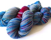 Hand painted Premium high twist sock yarn hand dyed: Have fun on the dark side