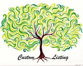 "Custom Listing for Lisa - 5.5-6"" Asymmetical Cherry Blossom Sculpture"