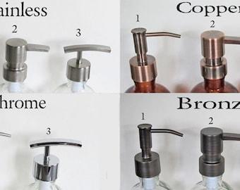 Replacement Pump | Bronze Soap Dispenser | Copper Soap Dispenser | Chrome Soap Dispenser | Lotion Pump| Stainless Pump