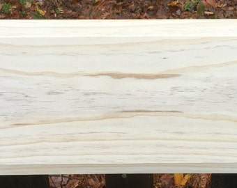 Unfinished pine raised board for the Welcome wintertime project featured in the Nov. issue of painting ezine