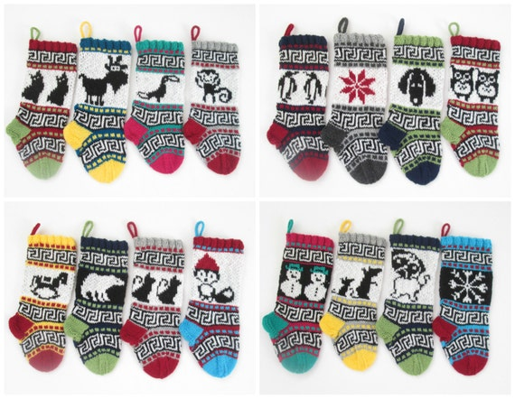 16 Knitting patterns for small Christmas Stockings with fair isle ...