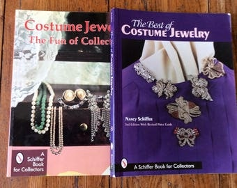 Vintage Schiffer Costume Jewelry Reference Books / Jewelry Value Guides / Costume Jewelry Books
