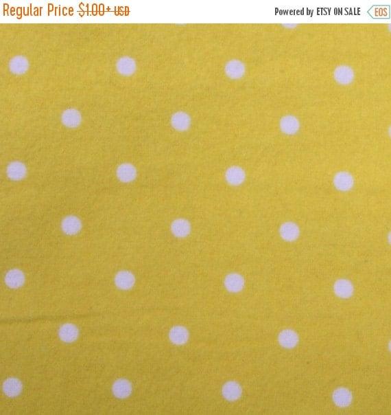 Flannel fabric,Yellow polka dot flannel fabric,100% Cotton flannel fabric,Quilt flannel fabric,Craft flannel fabric,Flannel by the Yard