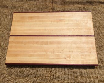 Maple and Purpleheart Cutting Board - Large