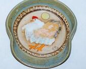 Handmade Stoneware Pottery Spoon Rest / Hen