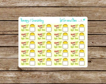 Therapy / Counseling Appointment Planner Stickers