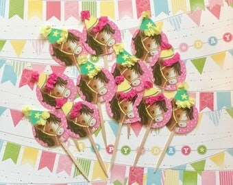 Pony/Horse Cupcake Toppers/Cowgirl Party