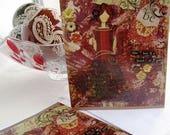 20% off GIFTS 4 MOMS Heart of Gold, Handmade Card, Girl Art Card, Mixed Media Card, Art Card, Greeting Card, Woman Empowerment, Blank Inside