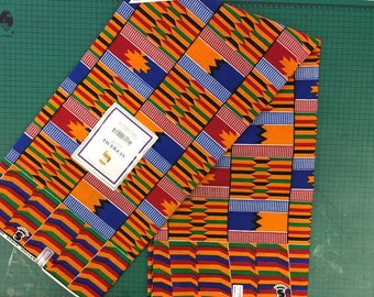 Kente African Print Fabric (sold by the yard)
