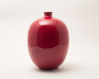 Deep Cranberry Red Vase