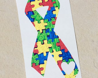 Autism Awareness Decal, Puzzle Piece Decal, Autism Decal, Autism Sticker, Car Decal, Yeti Decal, Monogram Decal, Awareness Ribbon Decal