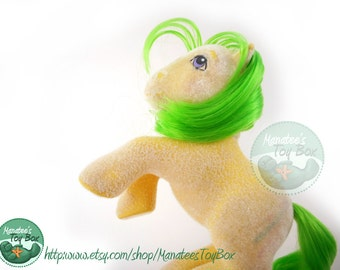 Magic Star Vintage My Little Pony G1 MLP So Soft Earth Pony Yellow and Green 1980s Hasbro