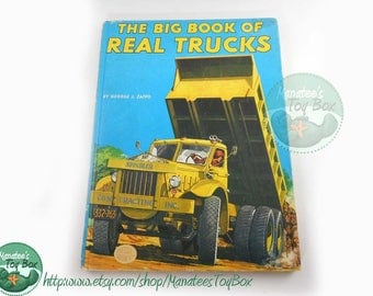 Vintage Big Book of Real Trucks Amazing 1950s Illustrations 1978 Printing Hardcover
