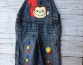 Curious George Birthday Overalls, Curious George Birthday, First Birthday Overalls