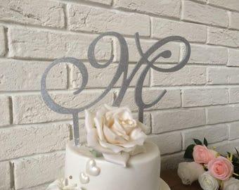 Cake topper gold, cake topper, cake topper wedding,  cake topper silver, cake topper letter, cake topper name, cake topper birthday