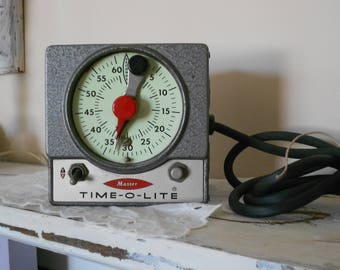 Industrial One Minute #Photo Timer -  Illuminated Face - Safelight & Enlarger - Master Time-O-Lite