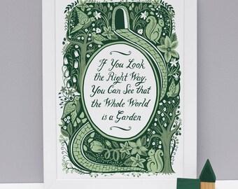 The Secret Garden, Famous Quotes Print