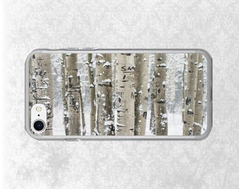 Birch Forest iPhone 7 Case, Tree Galaxy S7 Case,  Nature Phone, Colorado iPhone Case, iPhone 6 Plus Case, Birch Trees, White iPhone Case
