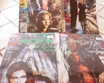 X FILES Topps Comics Lot #1 , #3, #5, #6 Set of 4 Mint condition Sci Fi TV Show Vintage