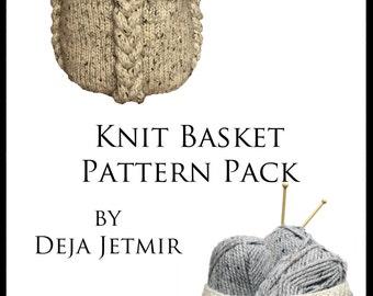 Knitting Pattern ~ Knit Basket Pattern Pack ~ Knitting Pattern