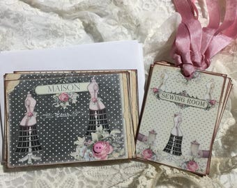 Sewing Stationery Set, Notecards, Gift Tags, Journals, Scrapbooks, Gift Item