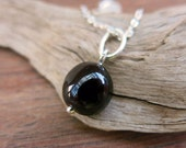 reserved Listing. Garnet Bead Pendant and Chain