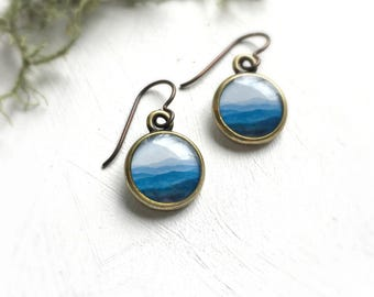 MOUNTAIN JEWELRY | Blue Ridge Mountains | Nature Earrings