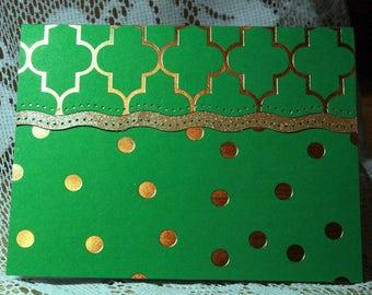 Green and Gold Card for Any Occasion  20170086