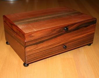 Jewelry Box, Watch Box, Valet, Handmade,  Brazilian Rose Wood and Sepile (JB0072)
