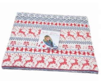 Nordic Stitches Layer Cake - 42 Ten Inch Squares by Wenche Wolff Hatling from Moda