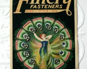 Vintage Snap Card, Finery Fasteners, Sewing Notion, Dress Fasteners