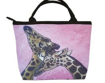 Giraffes Small Purse, Small Handbag  - by Salvador Kitti -From my Original Oil Painting, Comfort