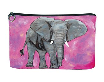 Elephant Cosmetic Bag by Salvador Kitti - From My Painting, Kelly