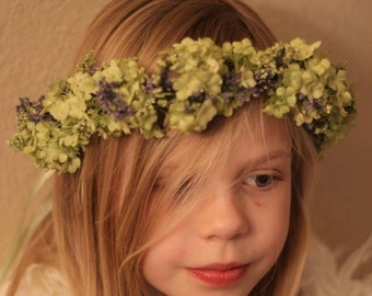 Tie back Floral Wreath,Little Girl floral Wreath