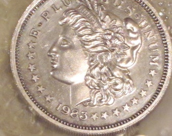 1983 Morgan Silver Trade Unit Coin