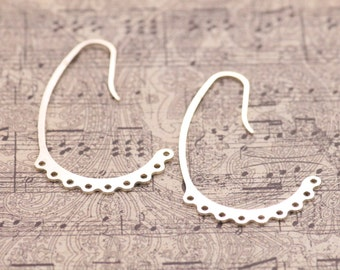Sterling Silver Chandelier Earring Findings