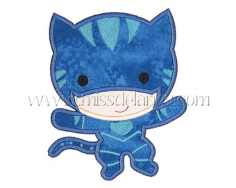 Cat Boy Applique Design