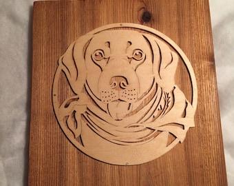 Dog Art, Labrador Retriever, Dog lover Art, Pet Loss Gift, Rustic Cedar Wall art, Rustic decor, memorial Pet Art,  Pet Lover Gift
