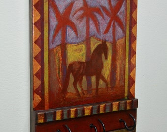 Horse and Red Palms