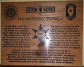 Custom order ISP Oath Plaque