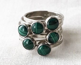 Malachite Ring // Sterling Silver
