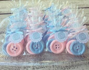 50 BUTTON SOAPS {25 Favors}   Cute As A Button Baby Shower Soap Favors