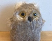 Uncanny Baby Owl - Decorative Doll - Handmade and OOAK - Uncanny Creature /Ready to ship/ Quirky Uncanny Scary Creepy Cute