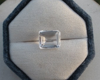 White Topaz Emerald Gem 12 x 10mm