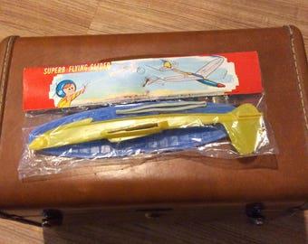 Glider U2 spy plane in original header bag vintage Cold War era toy with stick to launch