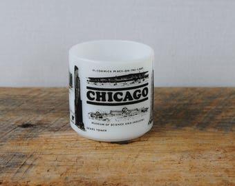 Vintage Chicago Coffee Tea  Mug Federal Glass Company