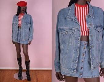 90s Light Blue Denim Jacket/ Medium/ 1990s/ Jean Jacket