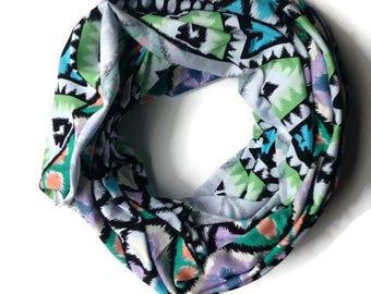 Nursing infinity scarf/ Nursinf cover up/ Nursing shawl/ Breastfeeding cover/ purple tribal