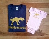 Daddy and daughter shirts, daddy and baby girl, dinosaur shirt, father daughter shirts, new dad gift, gifts for dad