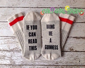 Guinness socks, FAST SHIP, Wine Socks, Bring Me Socks, Custom socks, Silly Saying Socks, Novelty Socks, Christmas Socks, Stocking Stuffer